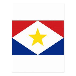 Netherlands Antilles Saba Flag Postcard