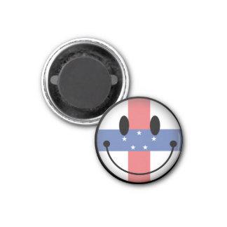Netherlands Antilles Smiley Refrigerator Magnet