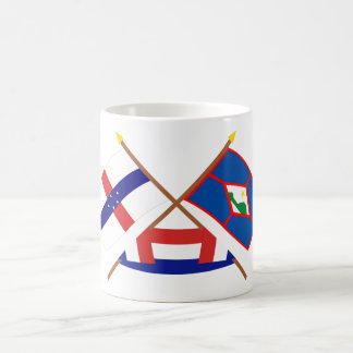 Netherlands Antilles & St. Eustatius Crossed Flags Coffee Mug