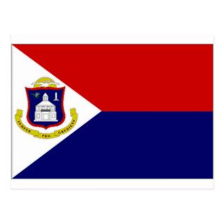 Netherlands Antilles St Maarten Flag Postcard