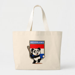 Jumbo Tote Bag with Dutch Baseball Panda design