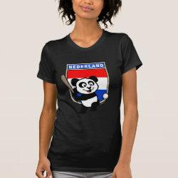 Women's American Apparel Fine Jersey Short Sleeve T-Shirt with Dutch Baseball Panda design