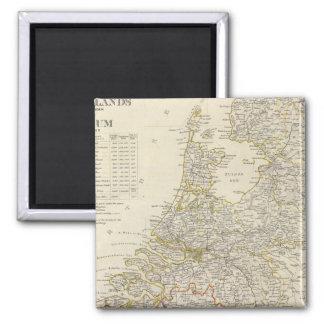 Netherlands, Belgium Magnet