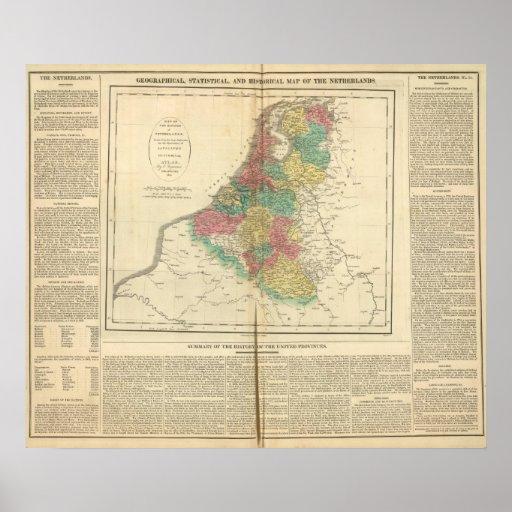 Netherlands, Beligium Atlas Map Posters