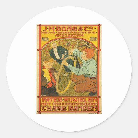 Netherlands Bicycle Repair Advertisement 1897 Classic Round Sticker