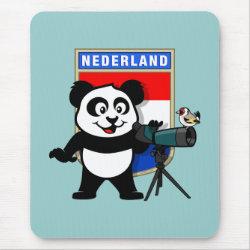 Mousepad with Dutch Birding Panda design