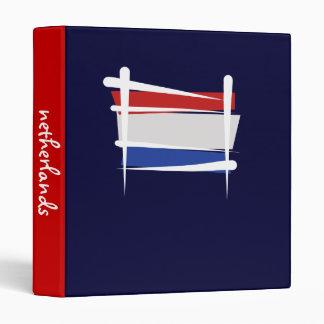 Netherlands Brush Flag 3 Ring Binders