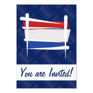Netherlands Brush Flag 5x7 Paper Invitation Card