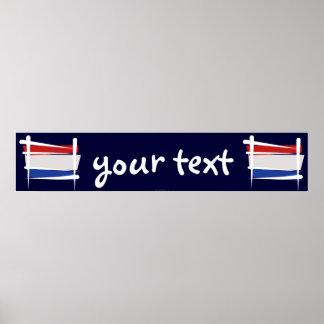 Netherlands Brush Flag Banner Poster