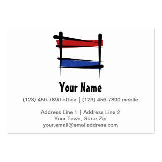 Netherlands Brush Flag Large Business Cards (Pack Of 100)