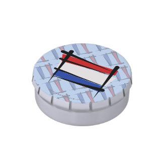 Netherlands Brush Flag Candy Tin