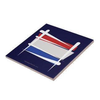 Netherlands Brush Flag Ceramic Tile