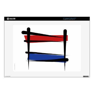 "Netherlands Brush Flag Decal For 15"" Laptop"