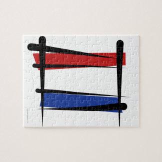 Netherlands Brush Flag Jigsaw Puzzles
