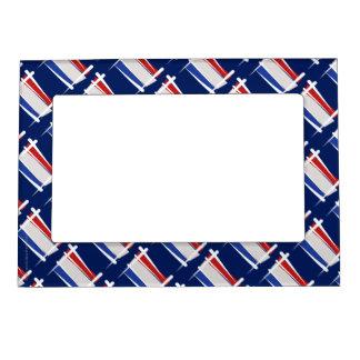 Netherlands Brush Flag Magnetic Photo Frame