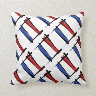 Netherlands Brush Flag Pillows