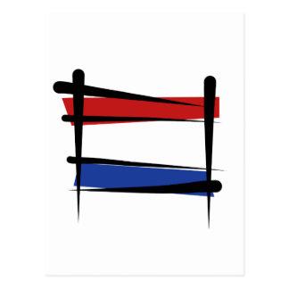 Netherlands Brush Flag Postcard