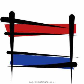 Netherlands Brush Flag Statuette