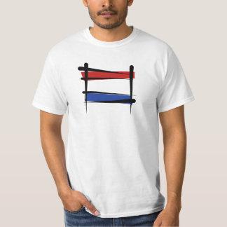 Netherlands Brush Flag T-Shirt