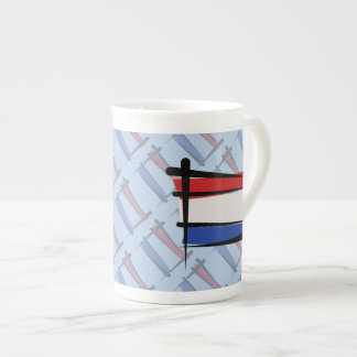Netherlands Brush Flag Tea Cup