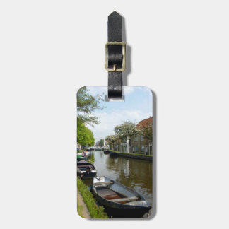 Netherlands Canal & Boats Bag Tag