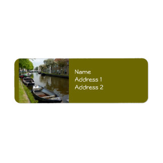 Netherlands Canal & Boats Label