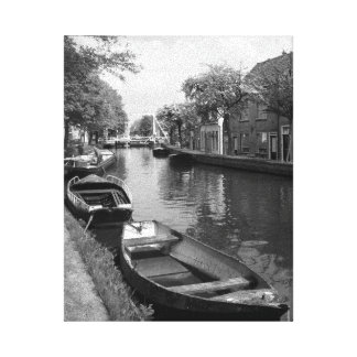 Netherlands Canal Canvas Print