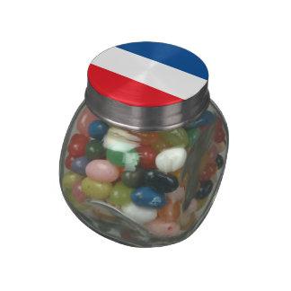Netherlands Glass Candy Jar