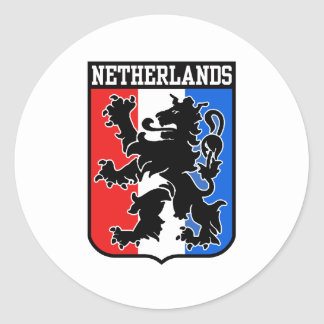 Netherlands Classic Round Sticker