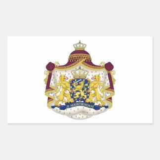 Netherlands Coat of Arms Rectangular Sticker