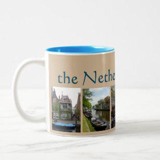 Netherlands Collage Two-Tone Coffee Mug
