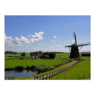 Netherlands country cape poster