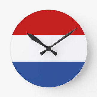 netherlands country flag clock