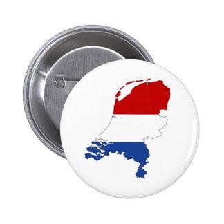 netherlands country flag map shape dutch pinback button