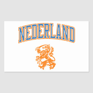 Netherlands + Crest Rectangular Sticker