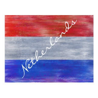 Netherlands distressed Dutch flag - Holland Postcard