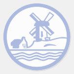 Netherlands District Round Sticker