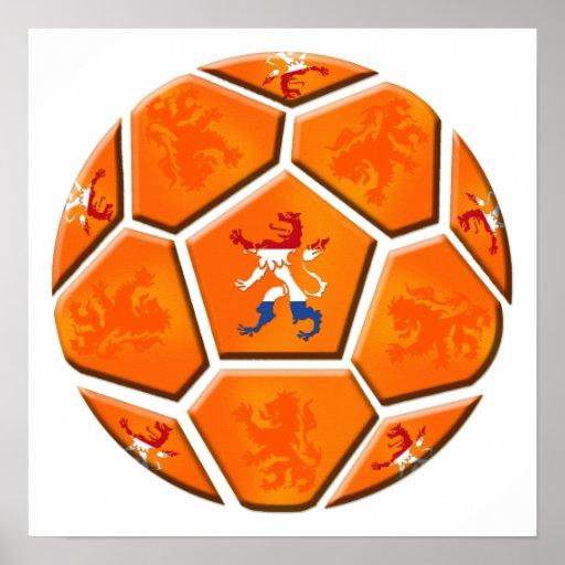 Netherlands Dutch flag Soccer ball gifts Poster