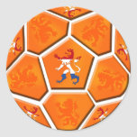 Netherlands Dutch flag Soccer ball gifts Sticker