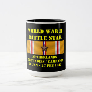 Netherlands East Indies Campaign Two-Tone Coffee Mug