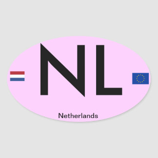 Netherlands* Euro-Style Bumper Sticker(Holland)