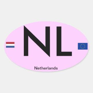 Netherlands* Euro-Style Bumper Sticker(Holland) Oval Sticker