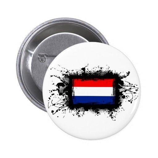 Netherlands Flag 2 Inch Round Button
