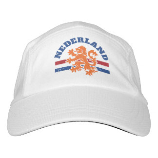 Netherlands Flag and Lion Headsweats Hat
