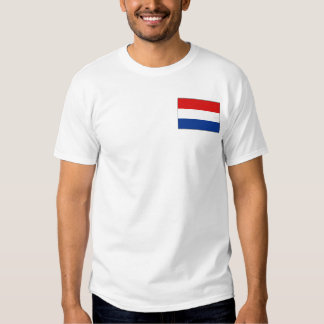 Netherlands Flag and Map T-Shirt