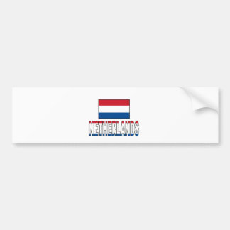 Netherlands flag bumper sticker
