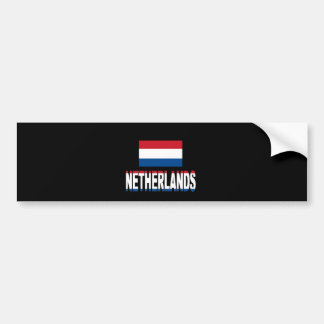 Netherlands flag bumper stickers