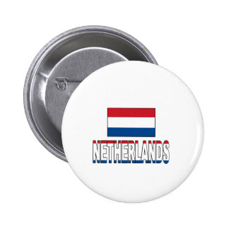 Netherlands flag buttons