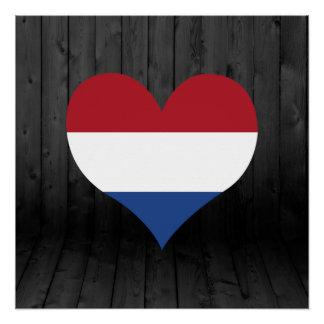 Netherlands flag colored poster