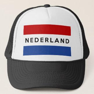 netherlands flag country nederland text name dutch trucker hat